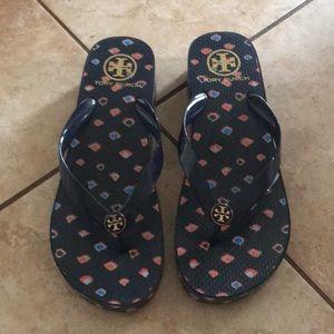 Size 9 Tory Burch flip flops